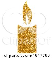 Golden Glitter Christmas Candle