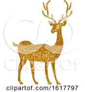 Golden Glitter Christmas Reindeer