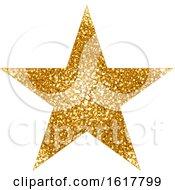 Golden Glitter Christmas Star by dero