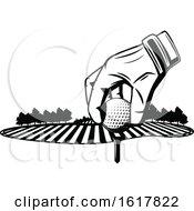 Black And White Golfing Design