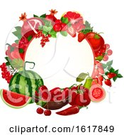 Frame With Red Foods