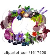 Frame With Purple Foods
