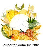 Frame With Yellow Foods