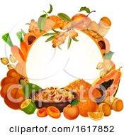 Frame With Orange Foods