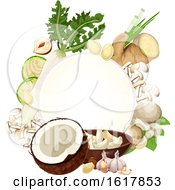 Frame With White Foods