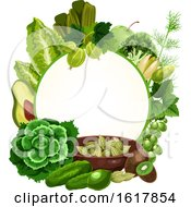Frame With Green Foods