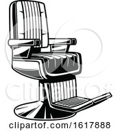 Black And White Barber Shop Chair by Vector Tradition SM