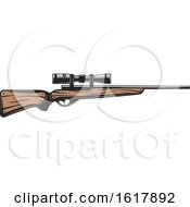 Hunting Rifle With A Scope