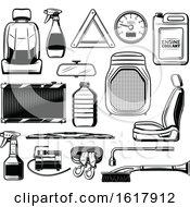 Black And White Automotive Design Elements