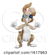 Poster, Art Print Of Easter Bunny Cool Rabbit Cartoon Giving Thumbs Up
