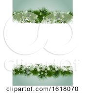 Christmas Menuor Background Design With Fir Tree Branch And Snowflakes