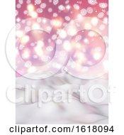 Poster, Art Print Of 3d Christmas Snowflake Landscape