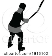 Hockey Player Sports Silhouettes