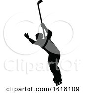 Hockey Player Sports Silhouettes by AtStockIllustration