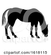 Poster, Art Print Of Horse Animal Silhouette On A White Background