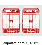 Christmas Festive Blank Decorated Bingo Cards