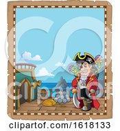 Pirate Captain Parchment Border