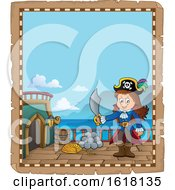 Pirate Girl Parchment Border
