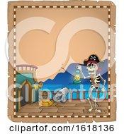 Pirate Skeleton Parchment Border