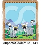 Parchment Lemur Border by visekart