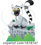 Happy Lemur On A Cliff by visekart