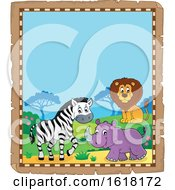 Parchment African Animals Border by visekart