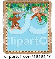Jungle Monkey Parchment Border