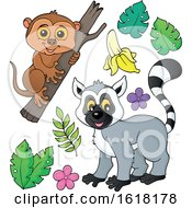 Happy Lemur And Tarsier by visekart