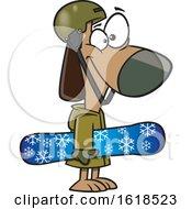 Poster, Art Print Of Cartoon Dog Snowboarder