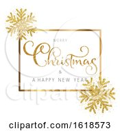 Glitter Christmas And New Year Background