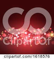 Gold Stars And Bokeh Lights Background