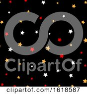 Poster, Art Print Of Christmas Star Pattern Background