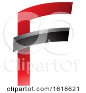 Red And Black Glossy Letter F