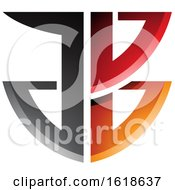 Red And Orange Shield Like Letters A And B