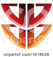 Red And Orange Shield Like Letter B