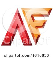 Red And Orange Glossy Letters A And F
