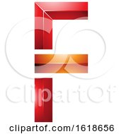Red And Orange Geometric Letter F