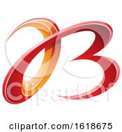 Red And Orange 3d Curly Letters A And B