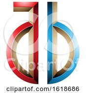 Red And Blue Key Like Letters A And B