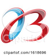 Red And Blue 3d Curly Letters A And B