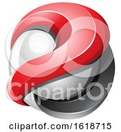 Poster, Art Print Of 3d Red And Black Glossy Sphere