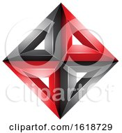 3d Red And Black Diamond Shape