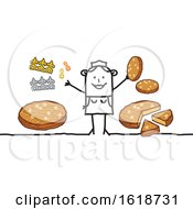 Poster, Art Print Of Stick Woman With Epiphany Cake