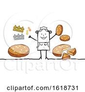 Stick Woman With Epiphany Cake