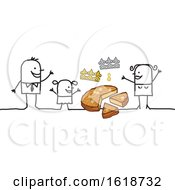 Poster, Art Print Of Stick Family With Epiphany Cake