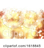 Poster, Art Print Of Christmas Background Of Falling Snowflakes And Confetti