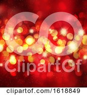 Poster, Art Print Of Christmas Background With Bokeh Lights And Stars