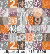 Patterned 2019 New Year Tile Background