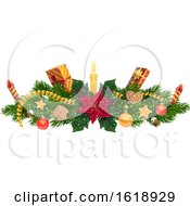 Christmas Border Design Element
