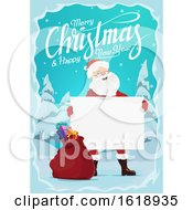 Merry Christmas And Happy New Year Greeting With Santa by Vector Tradition SM